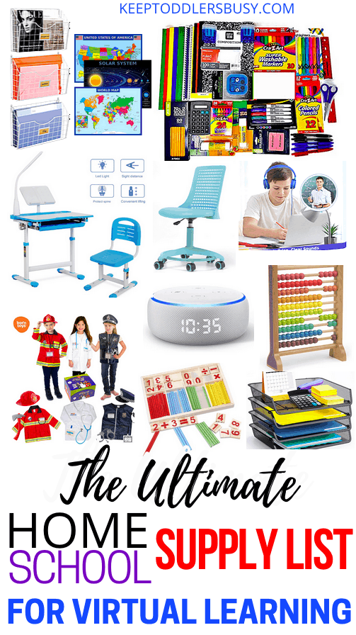 Looking For A Complete Homeschool Supply List With Virtual Learning In Mind? Then Check Out This Must Have Supplies List For Virtual Home Schooling The Kids!