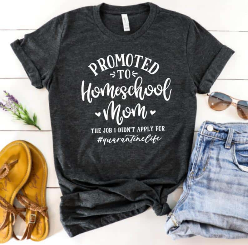 Home school tshirts are A Must Have To Celebrate The Coming School Year! Looking For A Complete Homeschool Supply List With Virtual Learning In Mind? Then Check Out This Must Have Supplies List For Virtual Home Schooling The Kids!