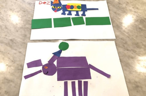 preschool shape activities elephant and pete the cat