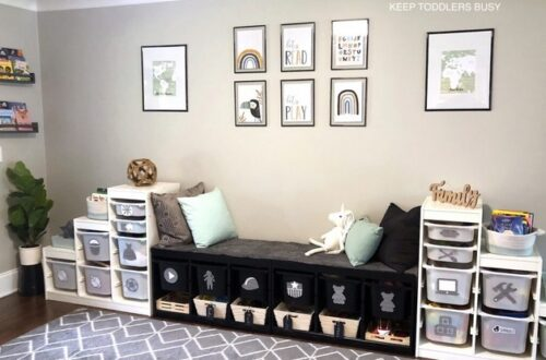 Playrooom Storage Ideas and organization