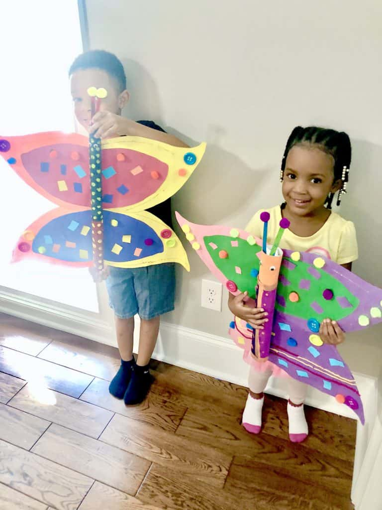 Amazing Paper Towel Roll Crafts Are A Right Of Passage For Any Child! Check Out This Super Cool Giant Butterfly Craft That Will Surely Be a Hit For The Kids! This Easy Craft Is Great for Toddlers Too!