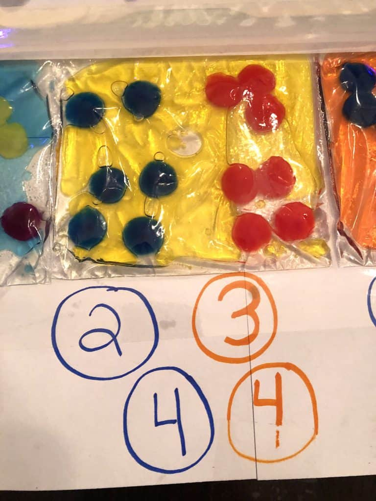 Sensory Activities For Toddlers Are An Absolute Must For Early Development Through Play And Good Plain Fun! This Easy Pom Pom Sensory Bag Is Super Easy and Cool. Great Sensory Bags for Babies Too!