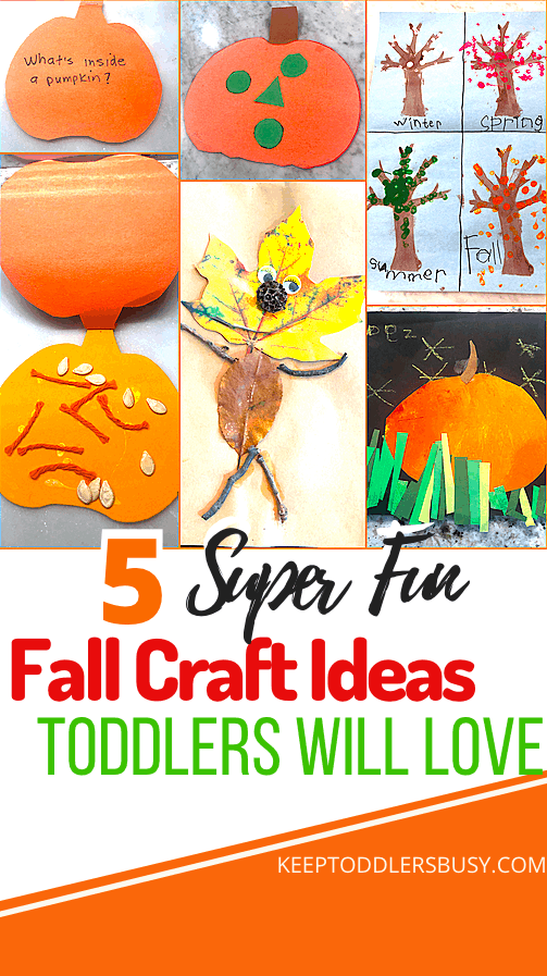 These Super Easy Fall Craft Ideas For Toddlers Will Make Autumn Enjoyable For The Entire Family! Make These Quick and Easy Fall Kids Crafts In Minutes with Supplies Found In The Home or Outside!