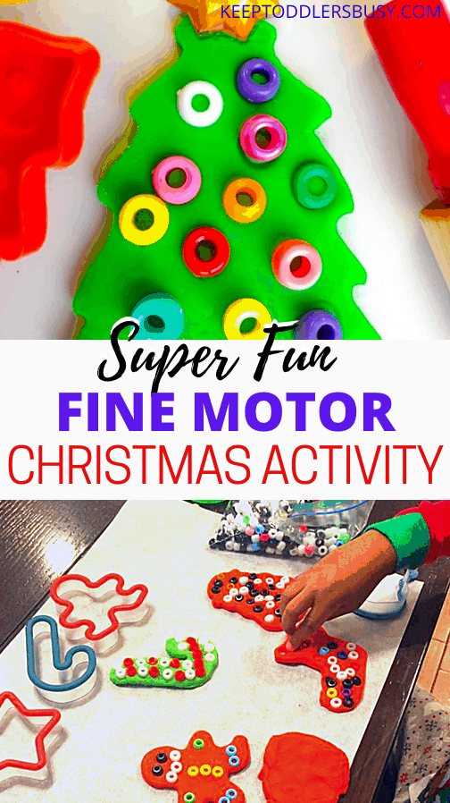 This Is A Christmas Crafts Kids Will Enjoy Over And Over Again. This Simple Christmas Activity Also Doubles As A Great Fine Motor Skills Builder. Take a Look!