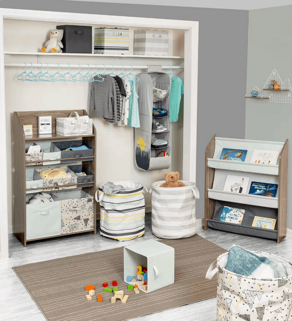If your child has lots of toys in the room, you can't go wrong with this  design. I love the extra closet storage and the Isabella & Max line.  So cute!
