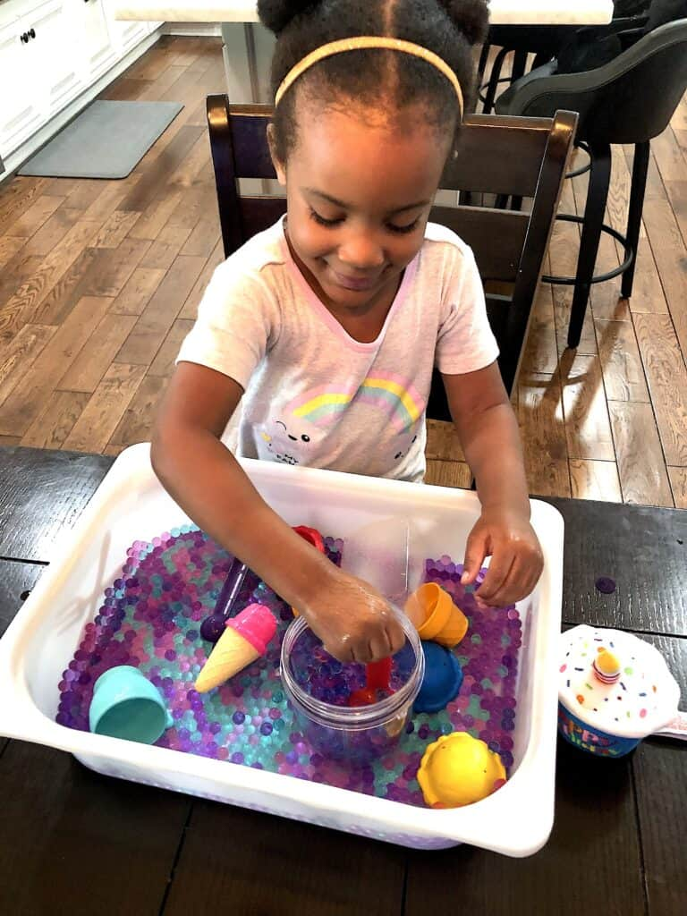 Looking for Sensory Activities That Toddlers Will Love? Well Check Out This Water Bead Sensory Bin Activity That Will Keep Your Child Occupied and Learning!