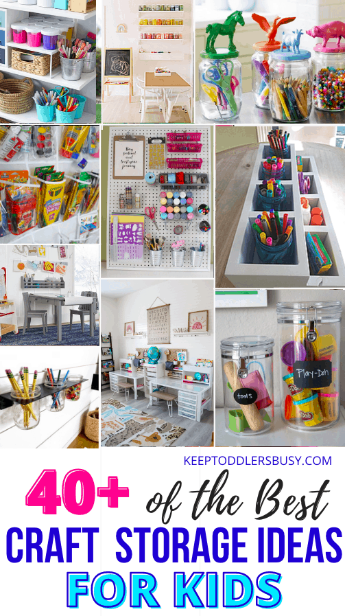 Imagine Using Genius Craft Storage Ideas To Organize Your Crafting Supplies! Check Out These Amazing Ideas For Craft Rooms and Organization using Furniture, Cabinets, Boxes, Carts, Tables and Bins!