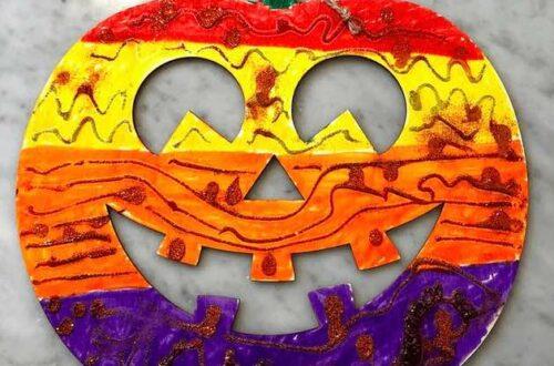 halloween craft for kindergarten pumpkin