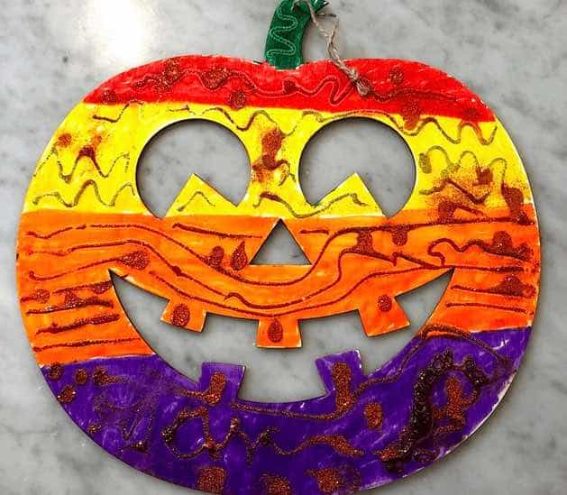 halloween craft for kindergarten pumpkin