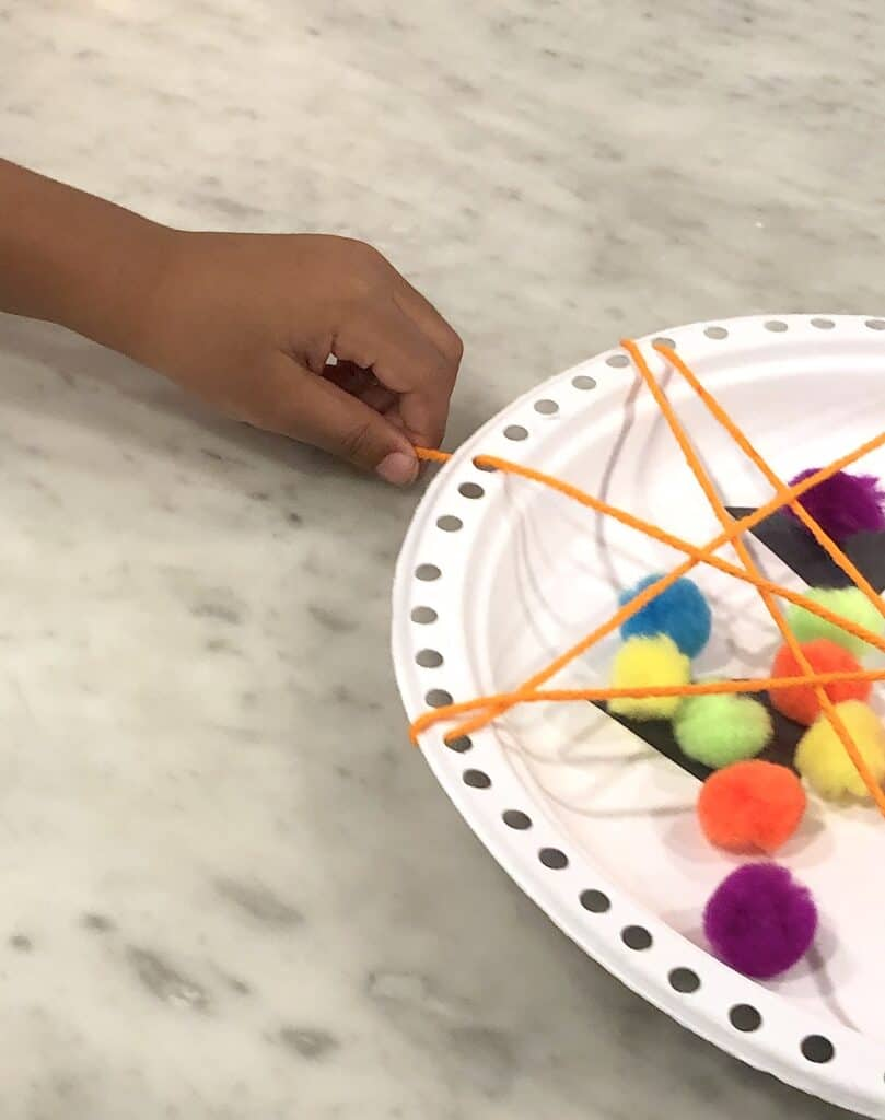 Create Some Amazing Memories This October With Super Fun Halloween Crafts For Kids! This Simple Paper Plate Craft Is Easy Enough For Young Kids To Practice Fine Motor Skills & Fun For Older Kids Too!