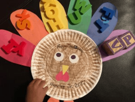 thanksgiving turkey craft for toddlers