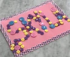 Looking for Button Craft Ideas For Kids That Toddlers Will Love? Well Check Out This Awesmoe Sensory Activity That Will Keep Your Child Occupied and Learning! #buttoncraftsforkids #buttoncrafts