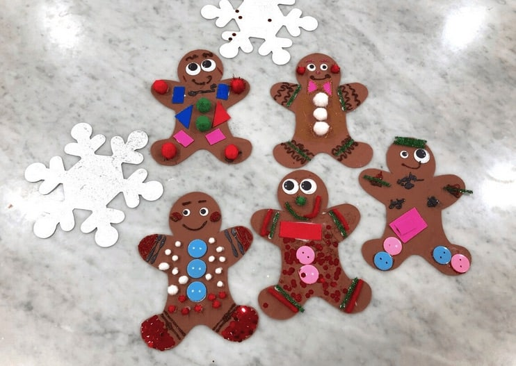 christmas craft for kids gingerbread man