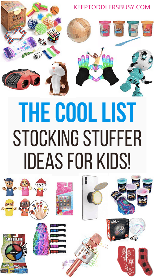 These Are Some Of The Best And Coolest Kid's Stocking Stuffer Ideas That They Will Actually Love And Use For Christmas. These Holiday Gift Ideas Are A Must-See. #giftideas #stockingstuffers