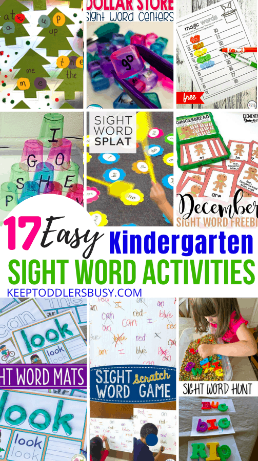 Inspire a Love of Learning with Fun Kindergarten Sight Word Activities! Fun and Play Is An Absolute Must For Early Development! Amazing Learning Activities Make A Huge Difference. #learningcrafts