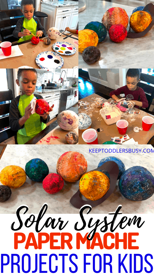paper mache solar system projects for kids