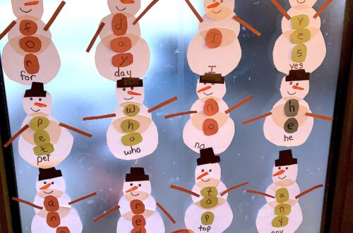 winter snowman Sight Word Activity