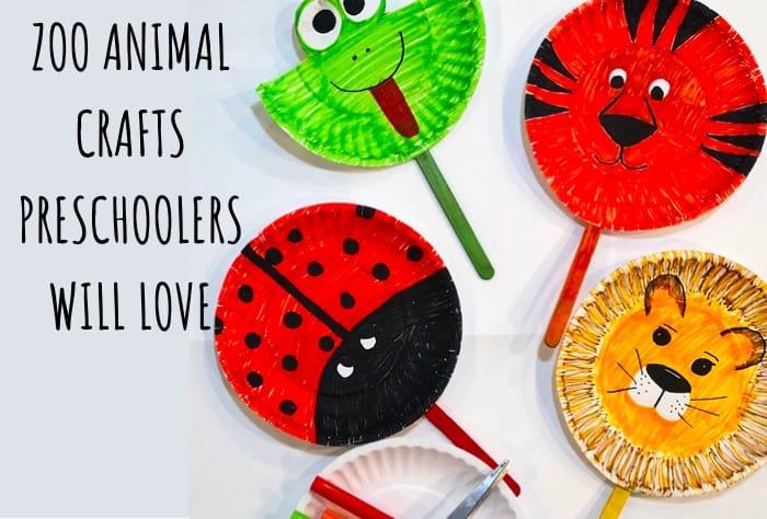 Zoo Animal crafts preschool