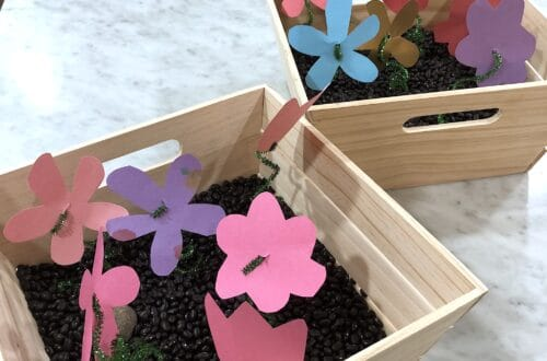 may flowers spring sensory activities