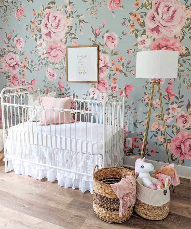 ashley-estep-baby-girl-nursery-pink-rose-wallpaper-
