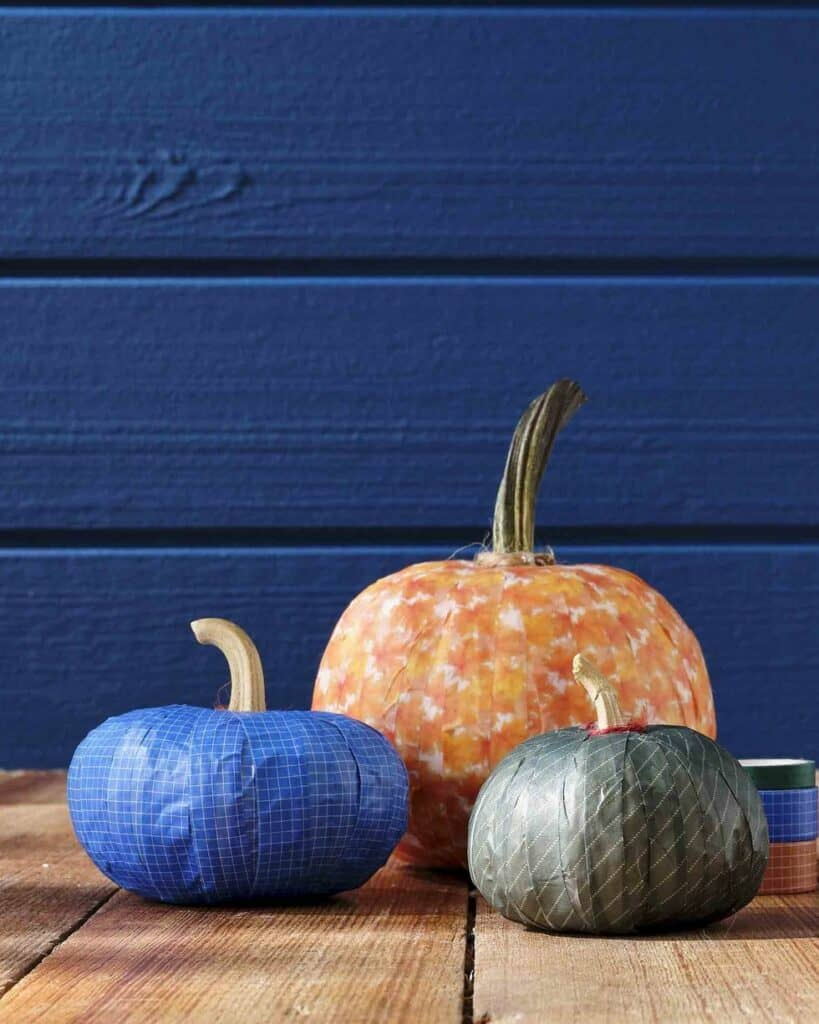 washi-tape-covered-pumpkins